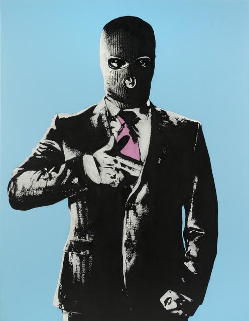 DOT DOT DOT, 'Handgun (Blue)', Painting, Aerosol stencil on canvas, Julien's Auctions