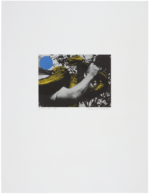 John Baldessari, 'Man with Snake (Blue and Yellow)', 1990, Print, 3-color lithograph, Gemini G.E.L. at Joni Moisant Weyl