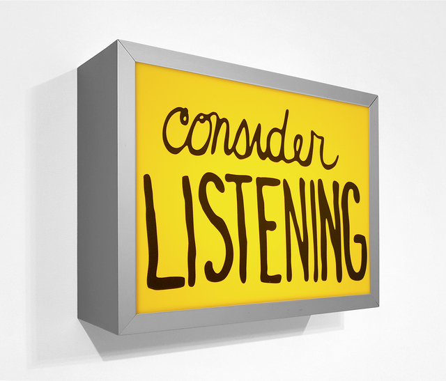 , 'Consider listening,' 2018, Krakow Witkin Gallery