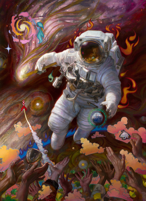 Donato Giancola, 'Life Seeker - The Comet', 2019, Painting, Oil on panel, IX Gallery