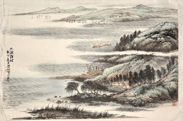 Xu Ming, 'Fishing Village in Lake Tai', 2011, Ronin Gallery