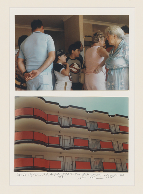 , 'Family Group: Perth, Australie, At telephone home (top), 1986 Motel. San Francisco,California (bottom), 1974, 1974/86,' 1974-1986, Mai 36 Galerie
