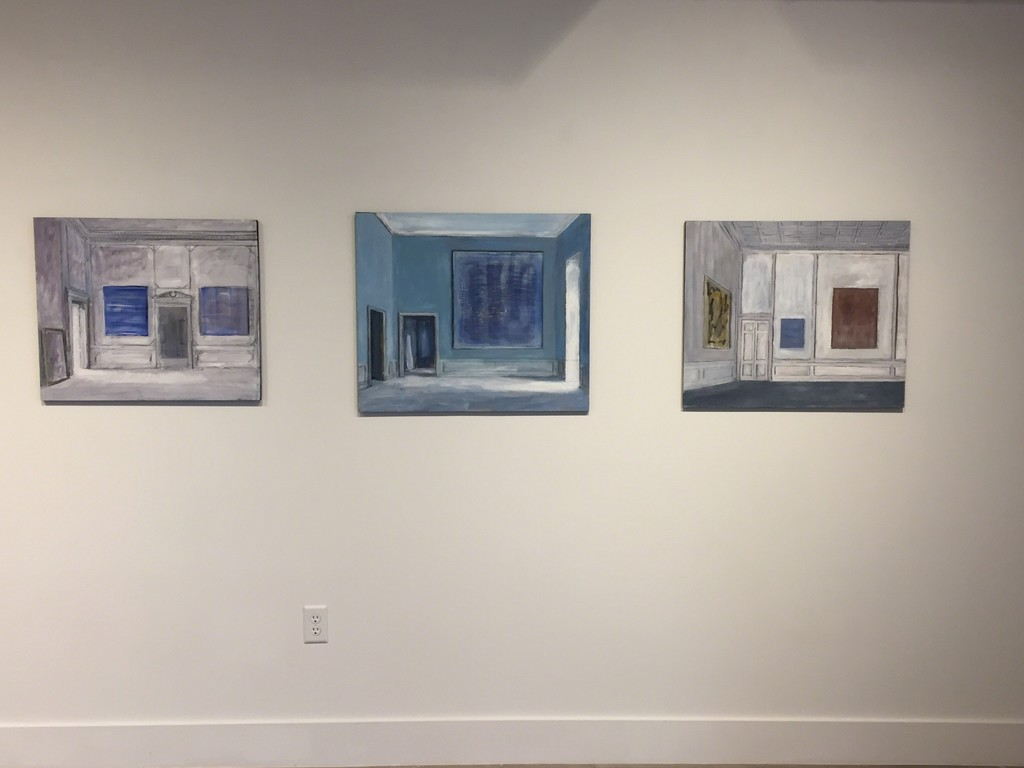 Installation View: Neoclassic Room - The Blue Painting - Three Paintings in the Museum