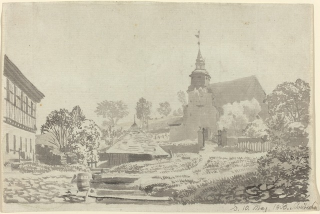 Christoph Nathe, 'Schreiberhau', 1800, Drawing, Collage or other Work on Paper, Brush and gray wash on laid paper, National Gallery of Art, Washington, D.C.