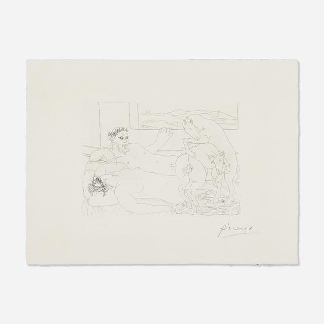Pablo Picasso, 'Le Repos du Sculpteur III from La Suite Vollard', 1933, Print, Etching on Montval with Vollard watermark, Rago/Wright