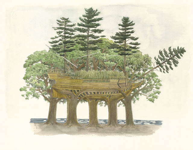 Scott Bluedorn, 'Ship of Trees', 2019, Print, Archival digital giclee, ARC Fine Art LLC