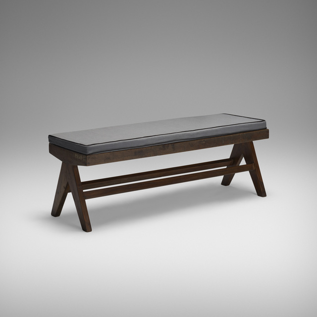 Pierre Jeanneret, 'Bench from the M.L.A. Flats Building, Chandigarh', c. 1955, Wright