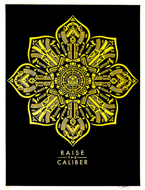 Shepard Fairey, 'RAISE THE CALIBER', 2015, Silverback Gallery
