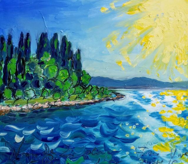 , 'Water  summer 2019 - plein air in situ paintings, Forma Viva, middle day sun,' 2019, Noravision Gallery