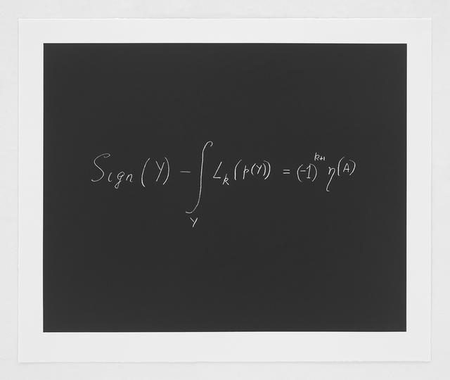 , 'The Index Theorem ,' 2014, Bernard Jacobson Gallery