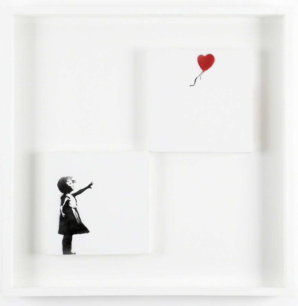 Girl and Balloon (Diptych)