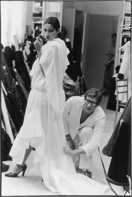 , 'Yves Saint Laurent in his Studio Fitting a Toile,' 1977, Seattle Art Museum
