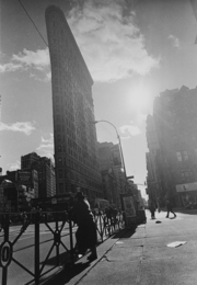 Man and the Flatiron Building NYC