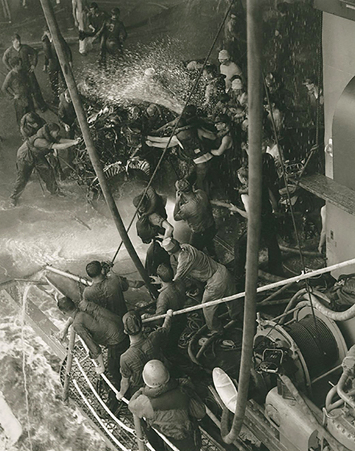 , 'Explosion Aboard the U.S.S. Wasp,' 1959, Gallery 270