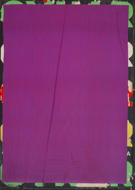 , 'Violet-Blank Cynar,' 1980, CARDI GALLERY
