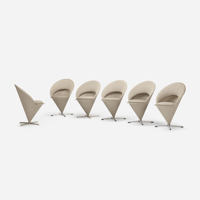 Verner Panton, 'Cone chairs, set of six', 1958, Wright