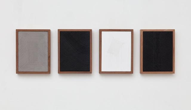 , 'Untitled (Four Part Etched Plaster),' 2018, Jason Haam