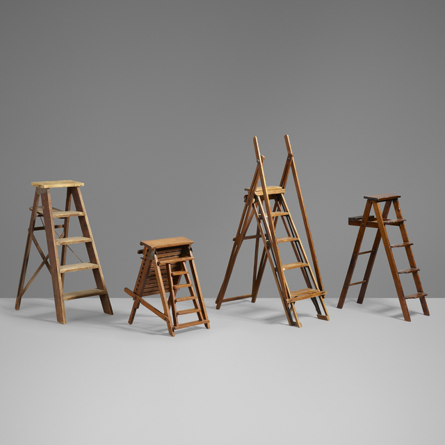 'Salesman sample ladders, collection of four', Other, Pine, steel, brass, Rago/Wright