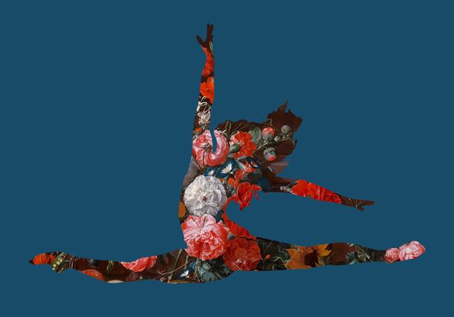 Agent X, 'Grand Jetes avec des fleurs (Blue)', 2019, Cerbera Gallery