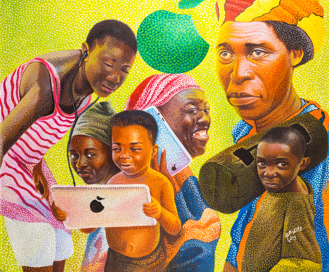, 'La communication,' 2015, Africa Bomoko