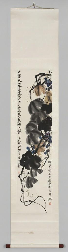 Qi Baishi, 'Grapes and Vine,' ca. 1920, Noguchi Museum