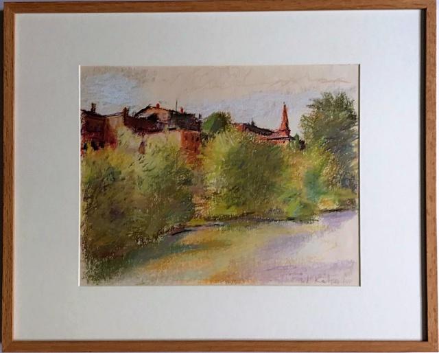 , 'Brattleboro Seen as a Flugstadt (European River Town),' 1980, Alpha 137 Gallery