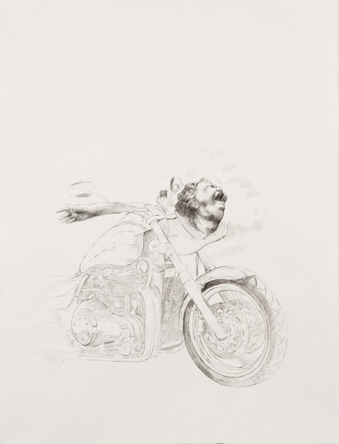 , 'The Biker  after Matthias Grünewald's Head of a Shouting Man,' 2013, Francis M. Naumann Fine Art