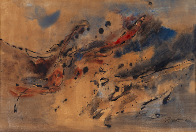 Mak Kum Siew, 'Untitled (Abstract)', 1963, Painting, Watercolour and ink on paper, 33 Auction