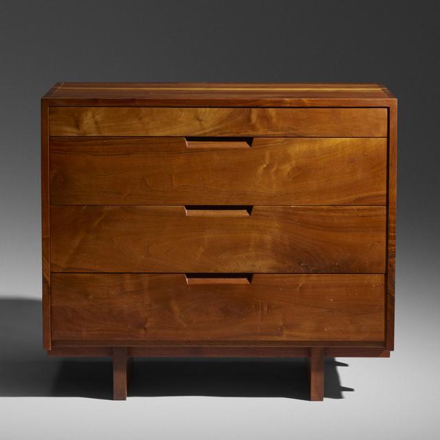 George Nakashima, 'cabinet with bookshelf', 1967, Wright