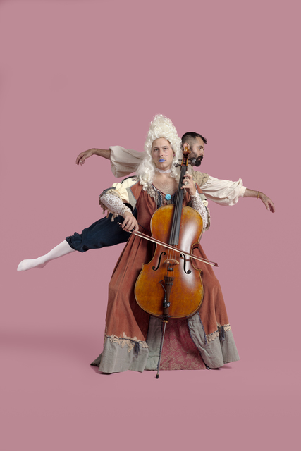 , 'As a queer kid raised in Minnesota, Stephen Sokolouski found solace in playing the cello. Music and fashion were instrumental in the exploration of their queer identity from a young age,' 2018, EUQINOM Gallery
