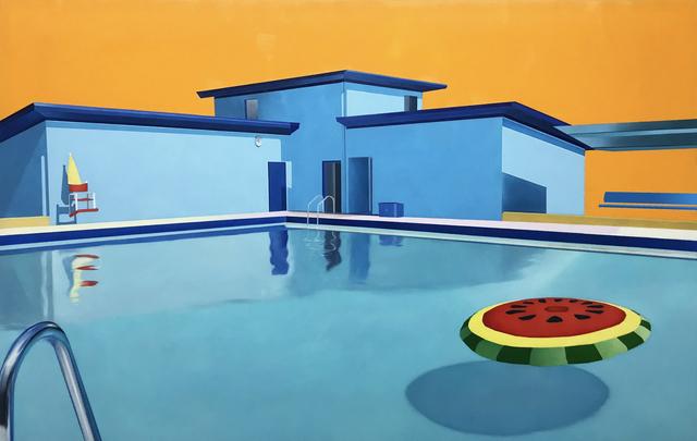 , 'Pool with Floatie,' 2018, Roman Fine Art