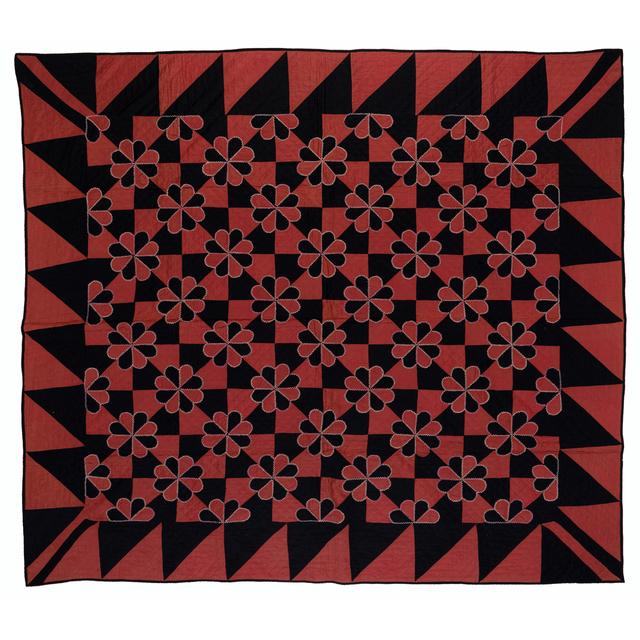 'Hearts And Gizzards', 1880, Textile Arts, Satin de coton, PIASA