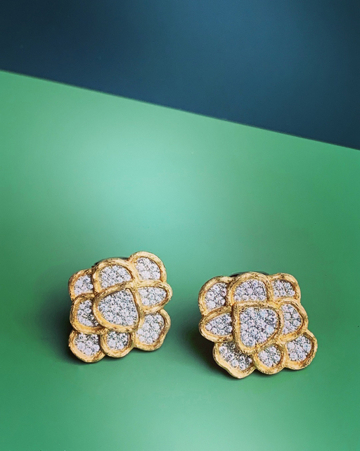 , 'Gold and Diamond Earrings,' 2015, Grima