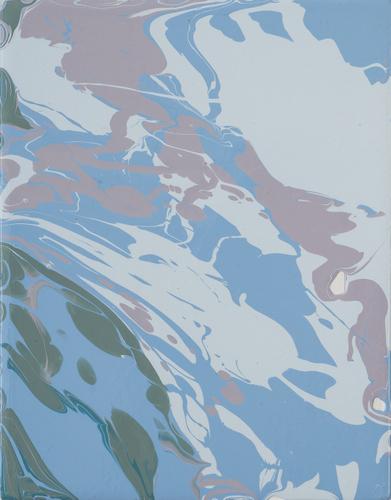 , 'bluevioletgreen pour,' 2015, Heather Gaudio Fine Art