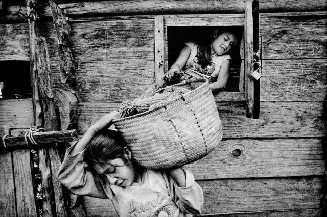 , 'Sisters empty their family's corn crib. San Miguel Cuevas, Mexico.,' 2008, Anastasia Photo