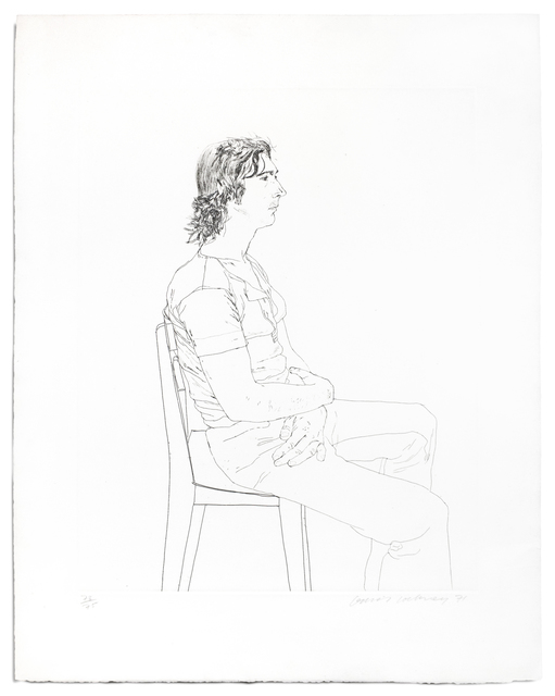 David Hockney, 'Maurice Payne', 1971, Petersburg Press