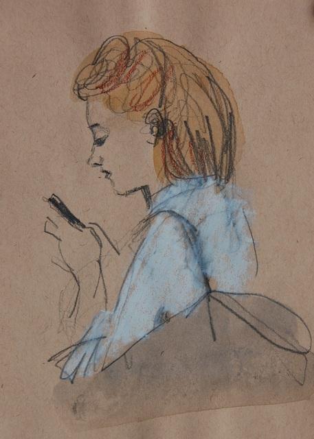 , 'Shoulder Bag, White Shirt, Phone,' 2017, Ground Floor Gallery