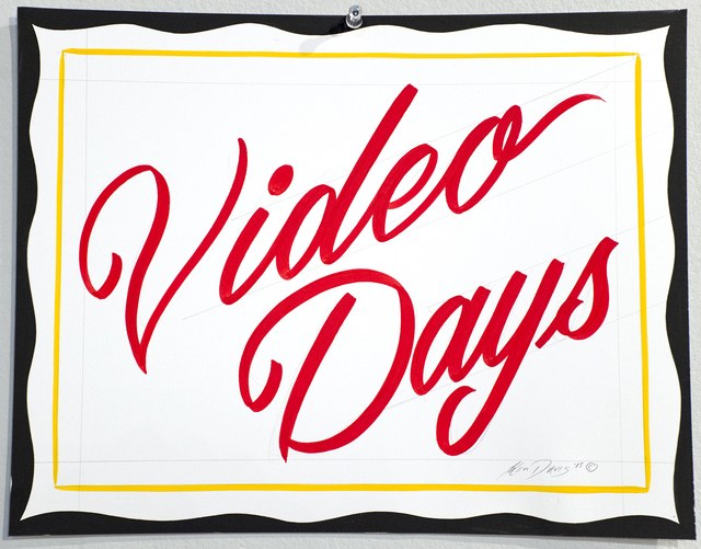 , 'Video Days,' 2015, ANNO DOMINI
