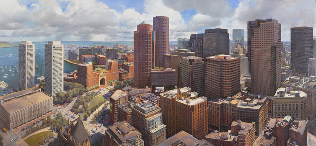Joel Babb, 'Boston from the Custom House Tower', 2020, Painting, Oil on linen, Vose Galleries