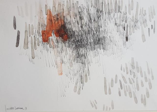 , 'Josep Maria Codina: Garoines sobre roig,' 2018, PontArte