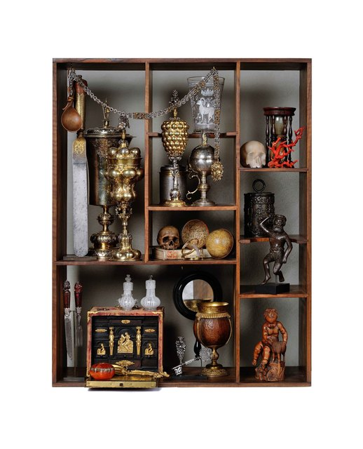 Unknown, 'Collector's cabinet with artworks from the 16th-17th centuries  arranged by Georg Laue according to historical record', Design/Decorative Art, Kunstkammer Georg Laue