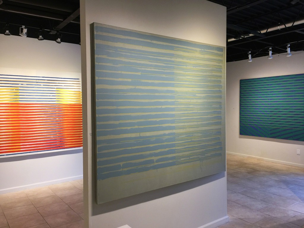 Anthony Greco: Paintings from the 1970s. Left to Right: 314/Fourteen (1976), 314/Fifteen (1976), 314/Eleven (1975)