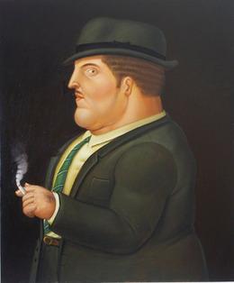 Fernando Botero, 'Man Smoking,' 1995, Galeria El Museo