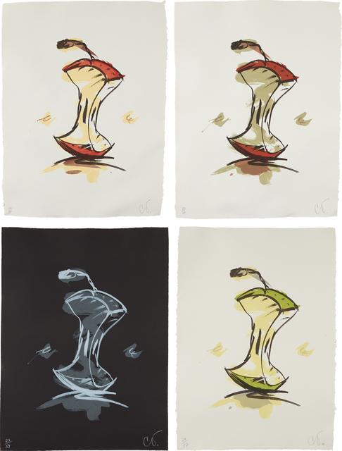 Claes Oldenburg, 'Apple Core - Summer; Apple Core - Autumn; Apple Core - Winter; and Apple Core - Spring', 1990, Phillips