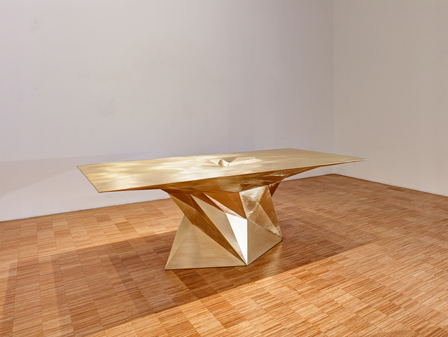 , 'Brass Tornado Table (SQN7-T),' 2014, Gallery ALL