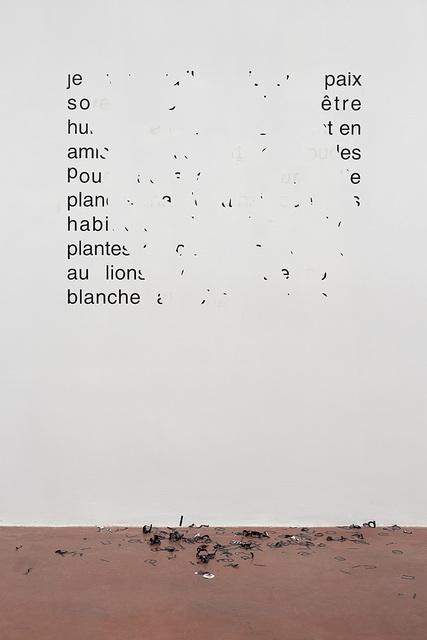 , 'Vendredi 11 août 1989 – Je veux qu'il y ait une paix,' 2014, Dvir Gallery