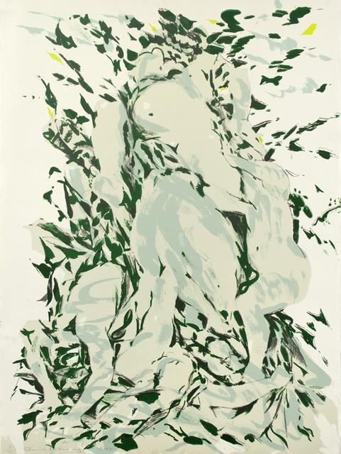 Elaine de Kooning, 'Jardin de Luxembourg V', 1977, Print, Five-color Lithograph, Tamarind Institute