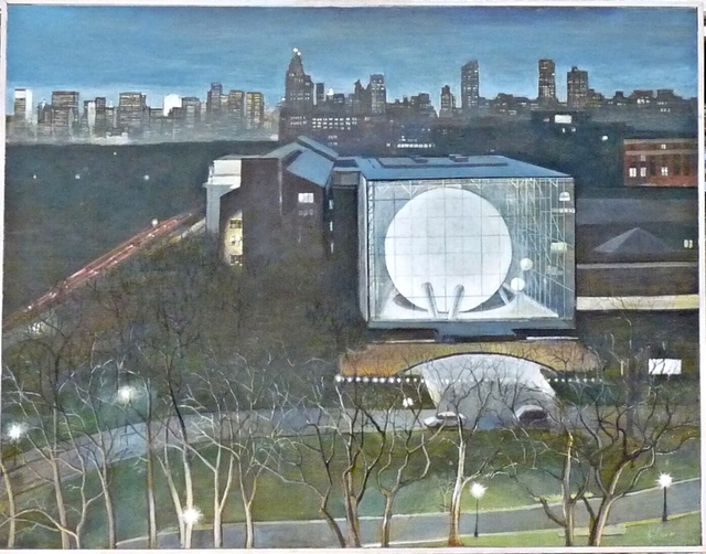 Richard Haas, 'Night View Rose Center (Planetarium), American Museum of Natural History, New York', 2001, Alpha 137 Gallery