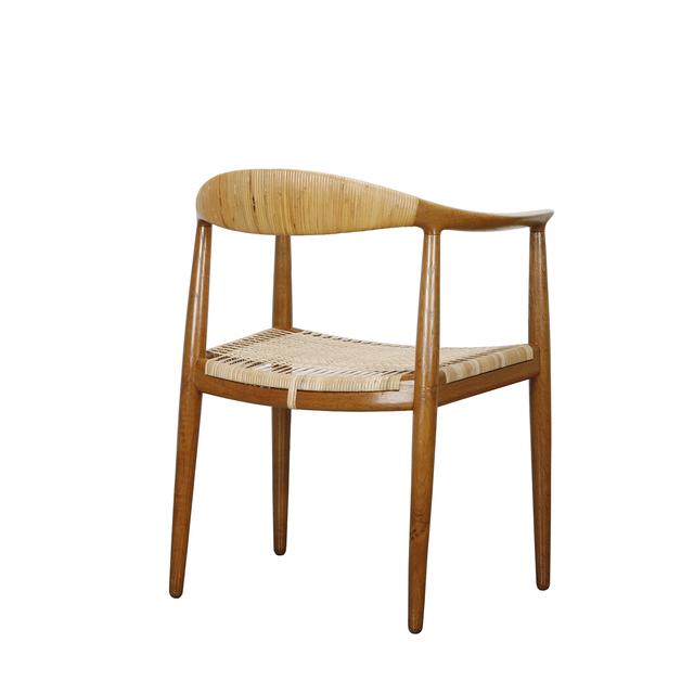 Hans Jørgensen Wegner, 'The Chair', 1949, Design/Decorative Art, Oak and cane, Dansk Møbelkunst Gallery
