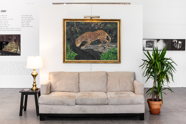 ", 'Set for The Tropics with Jaguar (from ""The Tropics"") ,' 1974, Swiss Institute"